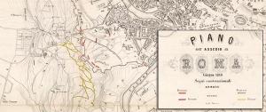 Figura 3 - M. Cellai, Piano dell'assedio di Roma. Giugno, 1849, dettaglio