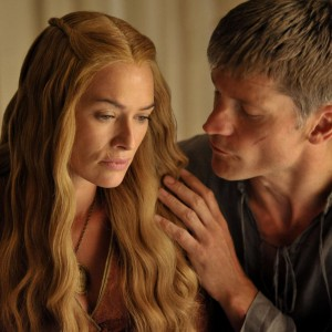 HBO GAME OF THRONES - - SEASON 4 Nikolaj Coster-Waldau as Jaime Lannister and Lena Headey as Cersei Lannister - Photo by Neil Davidson/HBO