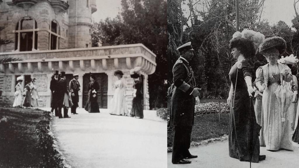 Kaiser Gugliemo II in visita al villino Florio