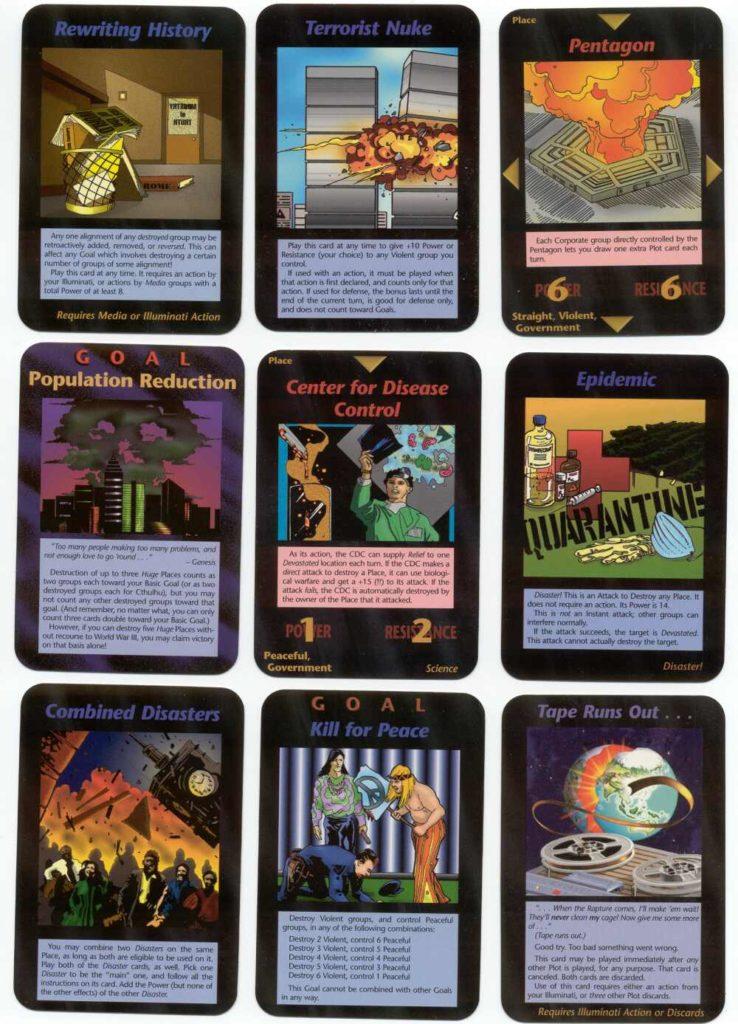 carte profezia gioco illuminati